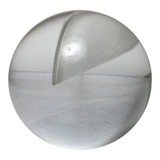 Glass Spherical Sculpture by Floris Meydam for Leerdam For Sale