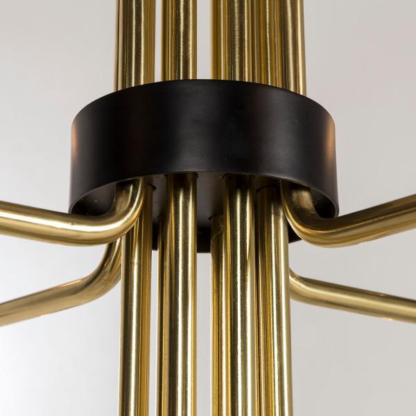 Modern Modern Le Marais 12 Light Brass Chandelier For Sale - Image 3 of 7