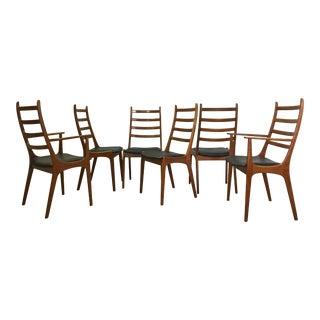 Set of Danish Modern Teak Dining Chairs by Kai Kristiansen For Sale