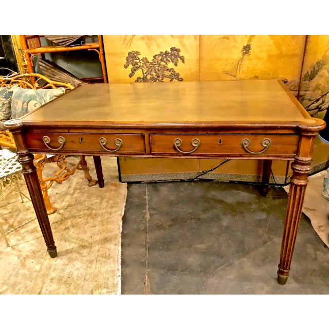 1810s Regency Mahogany Writing Table For Sale - Image 13 of 13