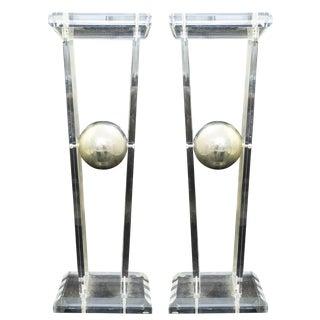 Pair of Lucite Pedestals