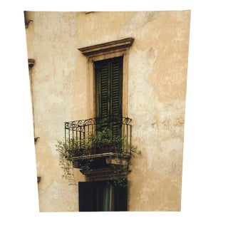 Venice Window Photo Giclee on Canvas For Sale