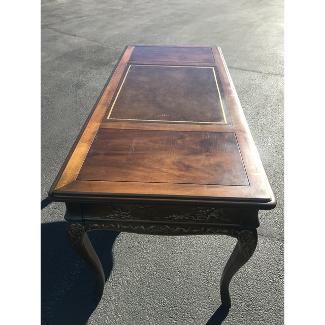 1980s Chinoiserie Drexel Writing Desk With Matching Chair -2 Pieces For Sale - Image 11 of 12