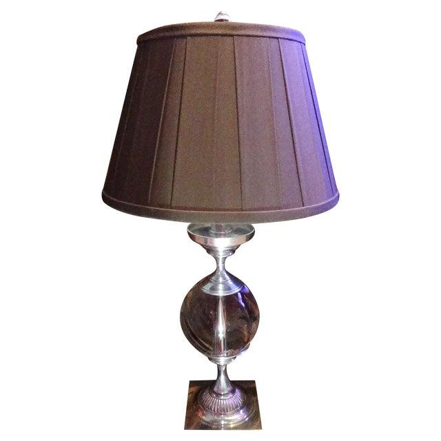 Restoration Hardware Crystal Ball Lamp - Image 1 of 8