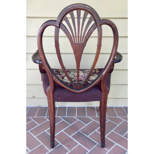 Hepplewhite Heart Back Chairs - a Pair For Sale - Image 6 of 11