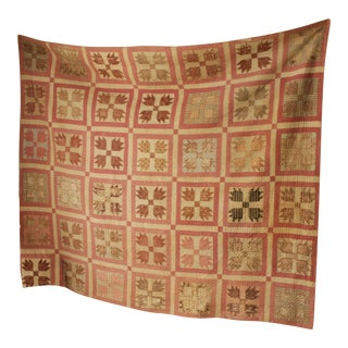 Antique English Patchwork Quilt For Sale