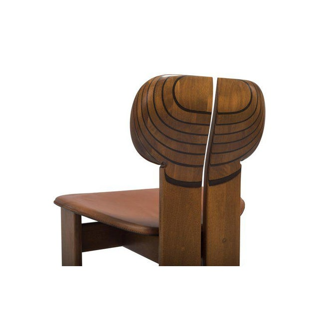 Africa Chairs by Afra and Tobia Scarpa With Cognac Leather Seating For Sale - Image 10 of 12