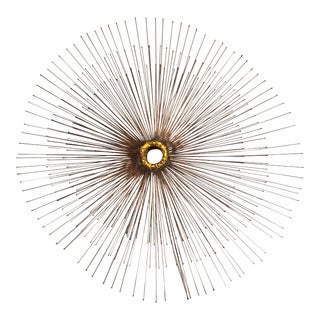 Curtis Jere Starburst Wall Sculpture For Sale