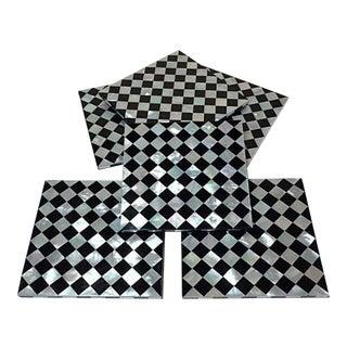 Art Deco Harlequin Black & White Coasters - Set of 6
