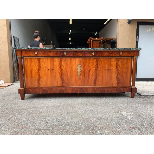 1900s French Empire Antique Sideboard For Sale - Image 4 of 13