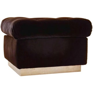 Pierre Folie for Charpentier Ottoman, France, 1970s For Sale