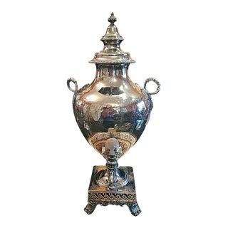 19c Elkington & Co Silver Samovar For Sale