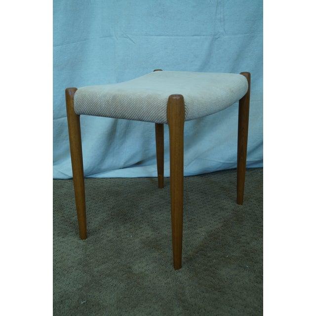 JL Moller Hojbjerg Danish Modern Teak Bench For Sale - Image 4 of 10