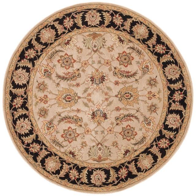 2020s Jaipur Living Selene Handmade Floral Beige Black Round Area Rug 8'X8' For Sale - Image 5 of 5
