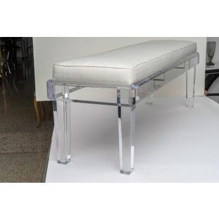 New Bespoke Lucite Upholstered Long Bench by Iconic Snob Galeries - Can Customize Preview
