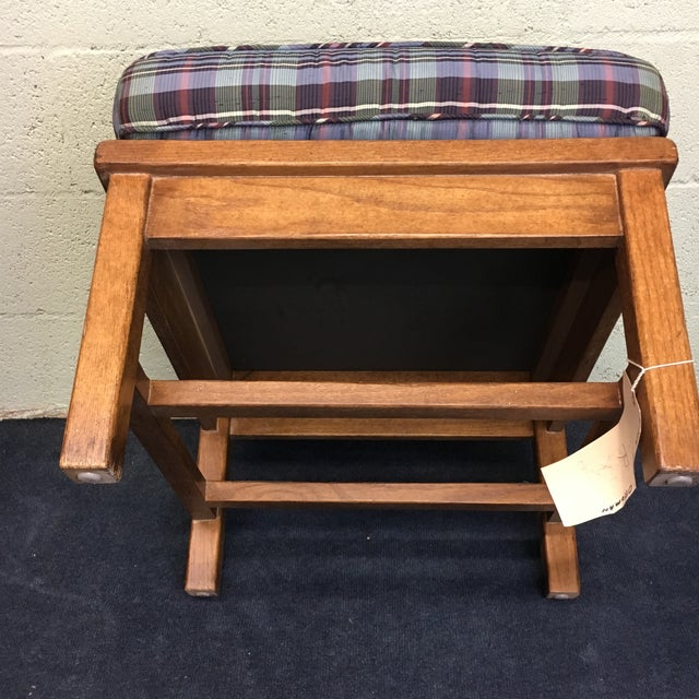 Plaid Ottoman - Image 6 of 8