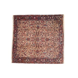 "Vintage Mehrivan Square Carpet - 9'7"" X 9'10"" For Sale"