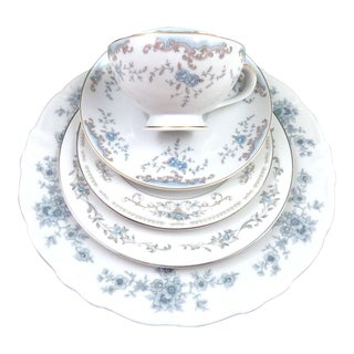 Vintage Mismatched Fine China - 5 Piece Place Setting