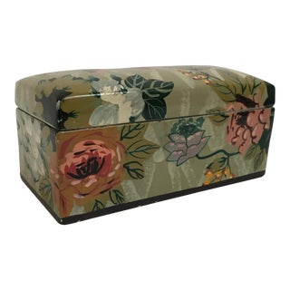 Hand Painted Floral Ceramic Box