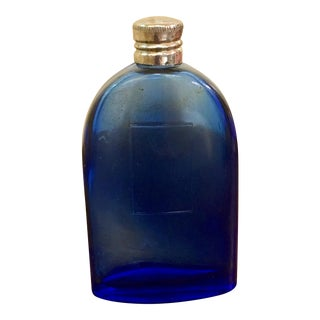 Vintage French Cobalt Blue Perfume Bottle