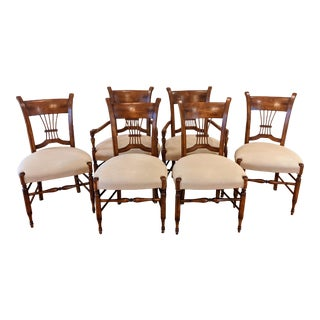 Baker Milling Road Spindle Back Dining Chairs - Set of 6 For Sale