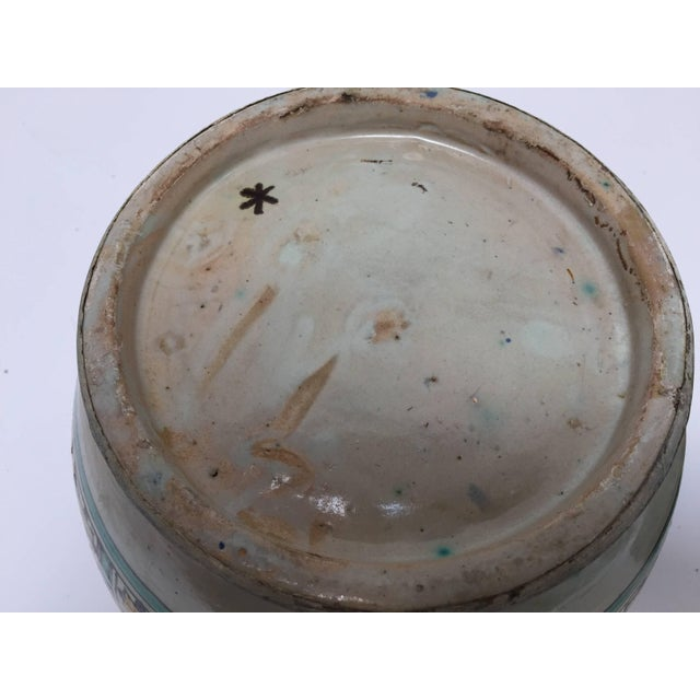 Mid 20th Century Moroccan Ceramic Glazed Storage Tureen Jar with Cover Handcrafted in Fez, Morocco For Sale - Image 5 of 7