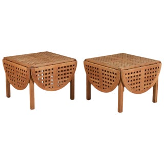 1950s Danish Modern Trip Trap' Teak Side Tables - a Pair For Sale