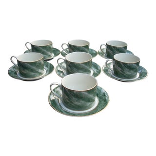 Mikasa Coffee Mugs & Saucers - Set of 7 For Sale