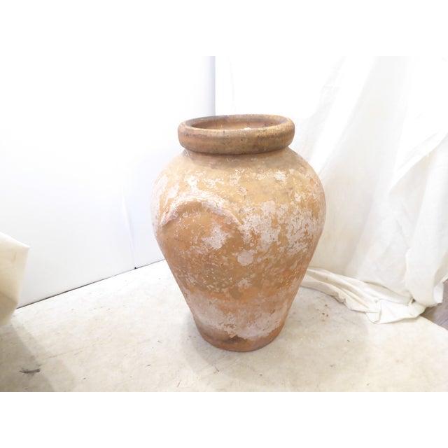 Vintage Weathered Terra Cotta Garden Urn For Sale - Image 4 of 5