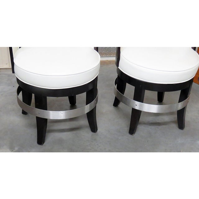 Art Deco Mid-Century Modern Swiveling Club Chairs - a Pair For Sale - Image 3 of 7