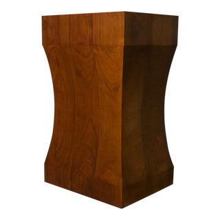 Mid-Century Modern Walnut Pedestal For Sale