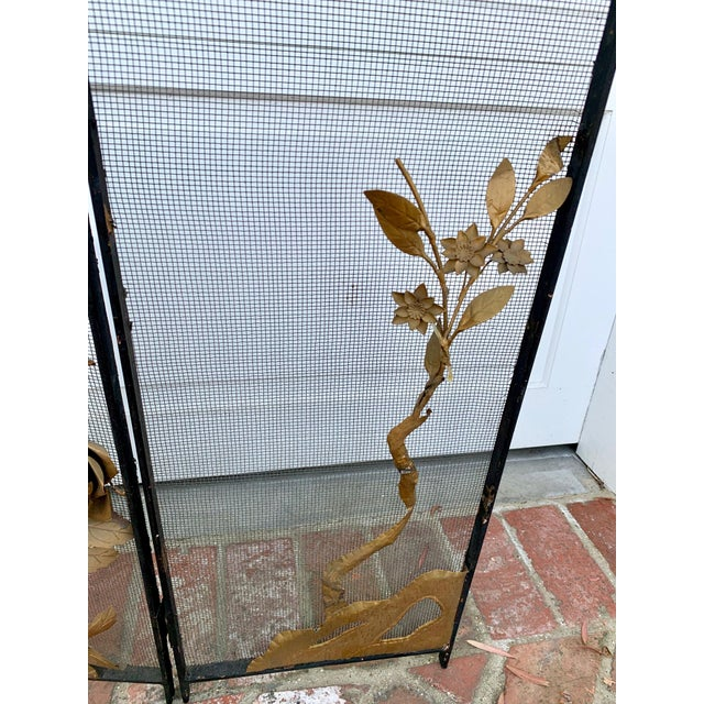 Victorian Floral Fireplace Screen For Sale - Image 4 of 9