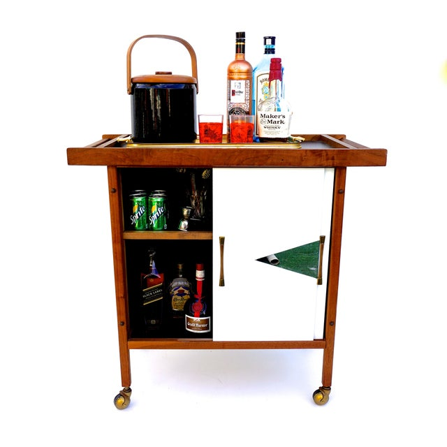 Mid-Century Danish Modern Teak Bar Cart - Image 3 of 11