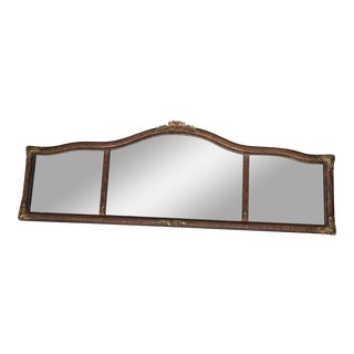 Queen Anne Triple Panel Mantle Mirror For Sale