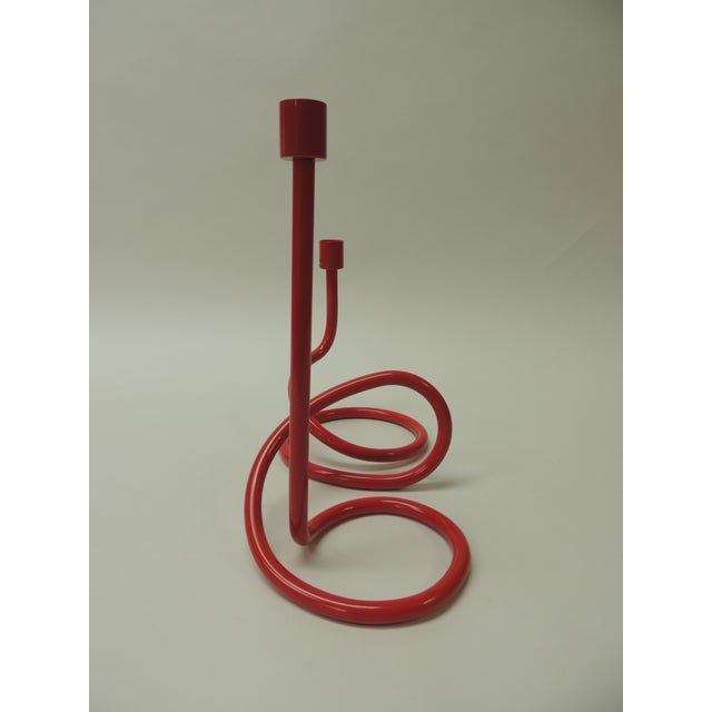Paola Navone Red Modernist Candleholder by Paola Navone for Crate and Barrel For Sale - Image 4 of 5