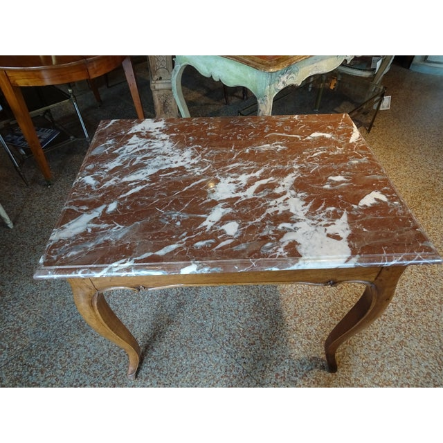 19th Century French Marble Top Table For Sale - Image 10 of 12