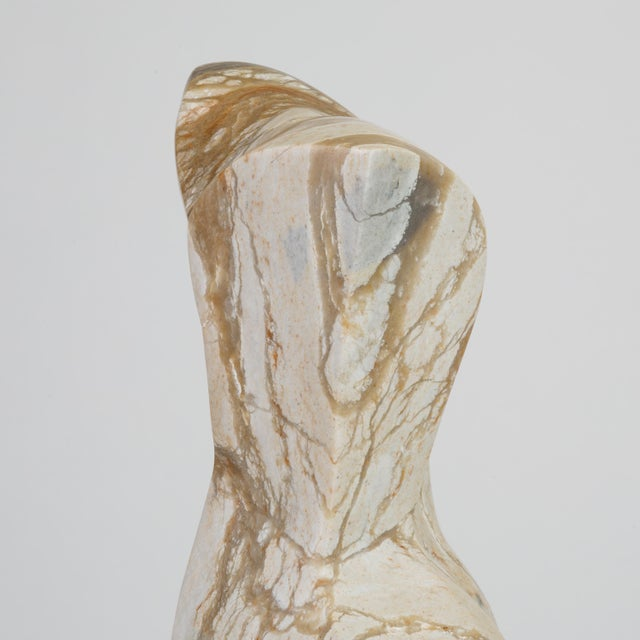 Abstract Torso Sculpture on Stone Mount For Sale - Image 10 of 12