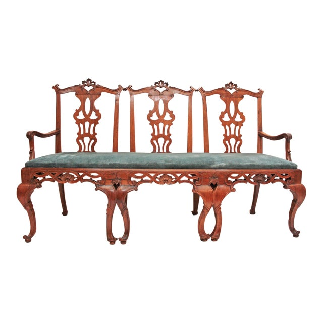 18th century Continental Chair Back Settee in the George II Taste For Sale
