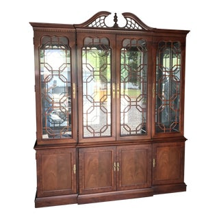 Chippendale Thomasville Mahogany China Hutch