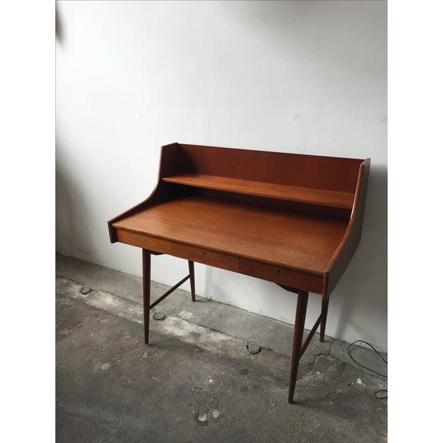 Mid-Century Danish Teak Desk - Image 2 of 11