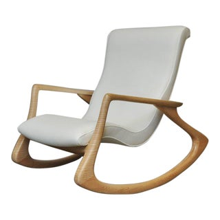 "Vladimir Kagan ""Erica Rocking Chair"" with Rare Maple Frame, circa 1960s For Sale"