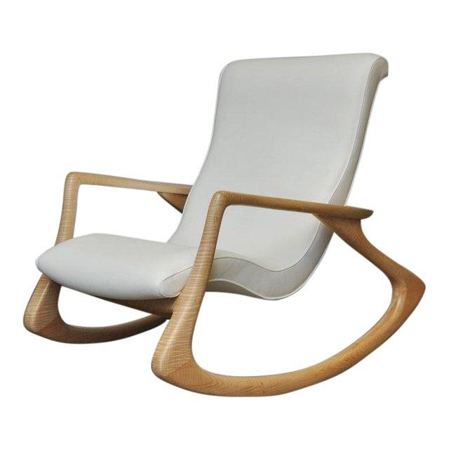 "Vladimir Kagan ""Erica Rocking Chair"" with Rare Maple Frame, circa 1960s For Sale"