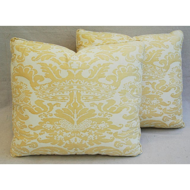 Mariano Fortuny Italian Corone Crown Feather/Down Pillows - Pair - Image 2 of 10
