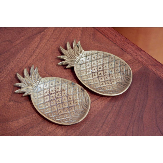1970s Brass Pineapple Catchalls, a Pair For Sale - Image 5 of 6