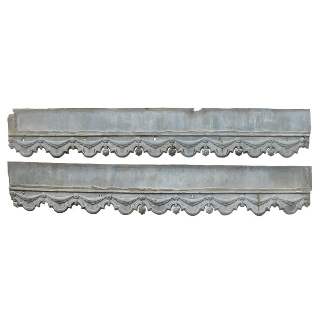 19th C. French Zinc Architectural Decoration, Pair. For Sale In Tulsa - Image 6 of 6