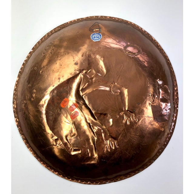 Mid-Century Modern Mid-Century Modern Copper Charger For Sale - Image 3 of 6