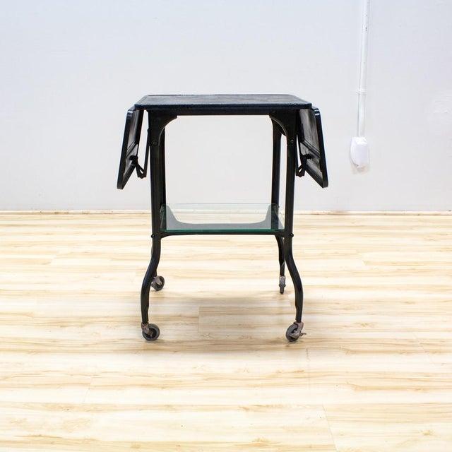 Black Industrial Bar Cart - Image 6 of 9
