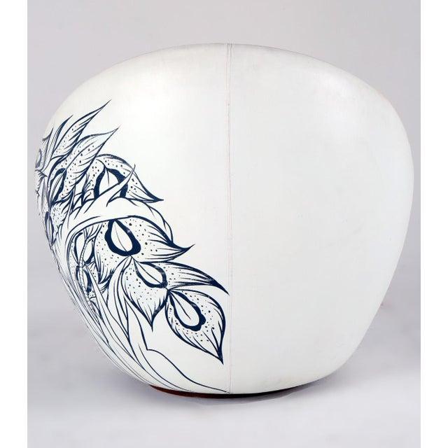 Milo Baughman Thayer Coggin Swivel Egg Chair For Sale - Image 11 of 13
