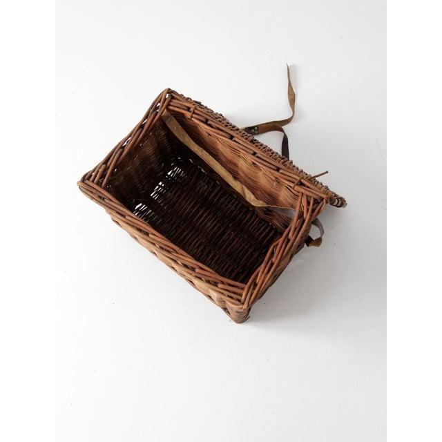 Antique Wicker Fishing Basket - Image 11 of 11