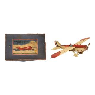 Meccano Airplane Kit No1 in the Original Box - 2 Pieces For Sale